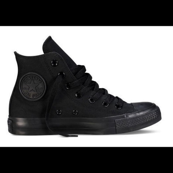 784c195c9f97 Converse Shoes - Converse All black high tops women s 9